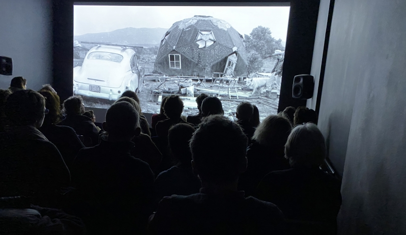 Image: screening of Drop City, introduced by Caitlin DeSilvey at CAST in February 2020